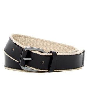 Cole Haan Mens Casual Dress Webbing Leather Belt